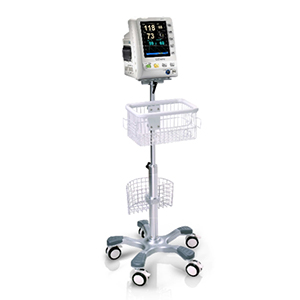 Edan Center Pole Trolley (Roll stand) with Basket and Locking Casters
